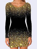 Платье Блестки чёрное