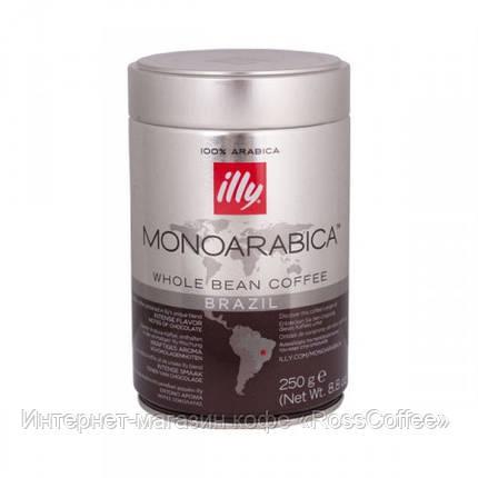 Кофе в зернах Illy Monoarabica Brasil 250 г в банке, фото 2