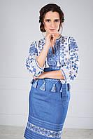 Блуза вишиванка з маркізету, фото 1