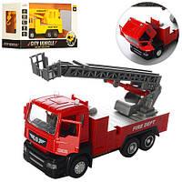 Пожарная металическая машинка 5002-5008