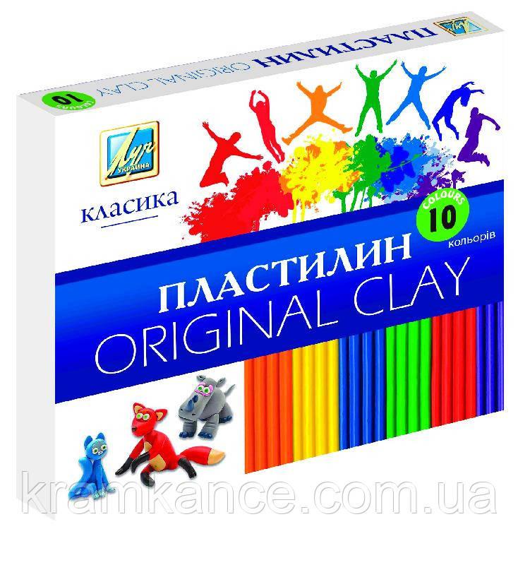 "Пластилин  Луч Украина 10цв. ""Классика"" Ц259014у"