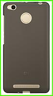 Ультратонкий чехол (бампер) для Xiaomi redmi 3x (серый)
