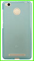Ультратонкий чехол (бампер) для Xiaomi redmi 3x (голубой)