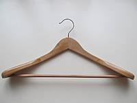 Вешалка плечики тремпеля для тяжелой одежды выгнутая деревянная