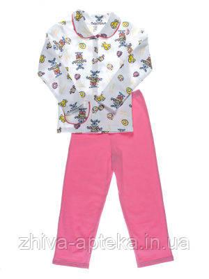 Пижама для девочки Розовые Зайцы ТМ Niso Baby 603ADp (рост 128см)