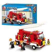 Конструктор SLUBAN M38-B3000 (36шт) пожарная машина, 175 дет, в кор-ке, 29-18,5-5см