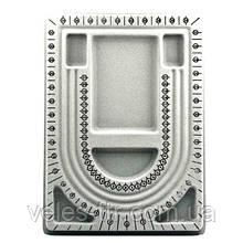 Дошка планшет для складання намиста, браслетів 32,7х24 см 3 ряди