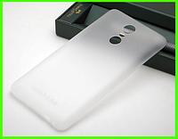 Ультратонкий чехол (бампер) 0.3 мм. для Xiaomi redmi note 3 / Xiaomi redmi note 3 pro (белый)