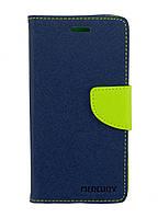 Чехол книжка для Lenovo K6 K33a48 боковой с отсеком для визиток, Mercury GOOSPERY, Синий