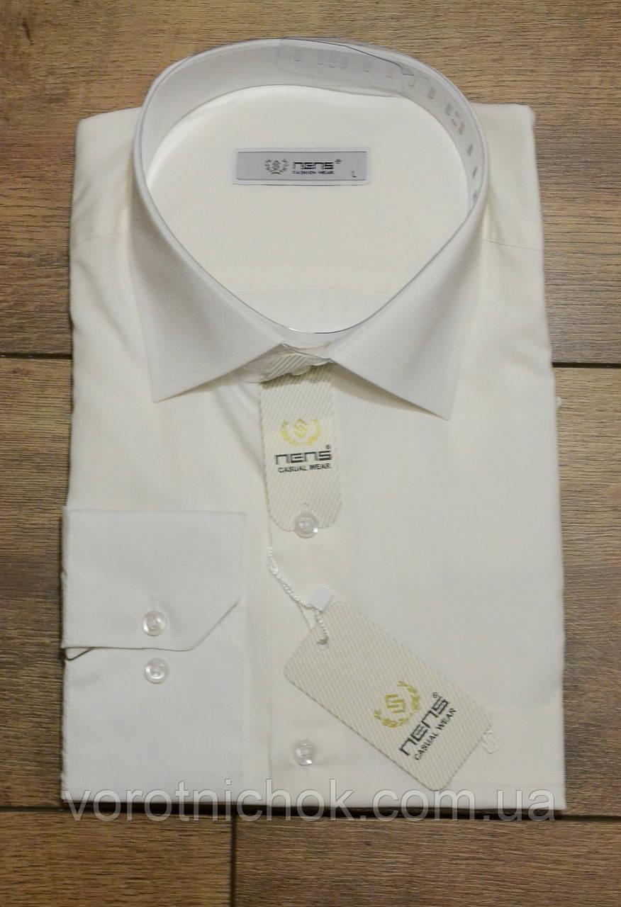Мужская рубашка- классическая- однотонная