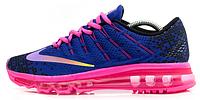 Женские кроссовки Nike Air Max 2016 (найк аир макс 2016) синие