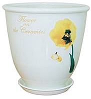 Вазон Бутон белый тюльпан