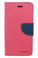 Чехол книжка для Lenovo K6 K33a48 боковой с отсеком для визиток, Mercury GOOSPERY Розовый