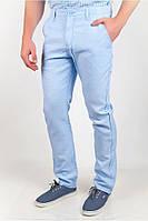 Мужские брюки летние голубые (166KF023)