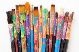 Товари для художника. фарби, пензлі, пастель