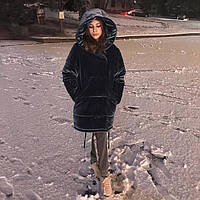 """Женская плюшевая куртка """"зефирка"""" в велюре"""