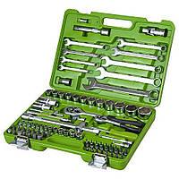 """Набор инструментов Alloid НГ-4082П (82ед) 1/2-1/4"""" (14-32/4-14мм+свечн+ 5удл+2трещ45Т+2кард+ биты+ключи)"""
