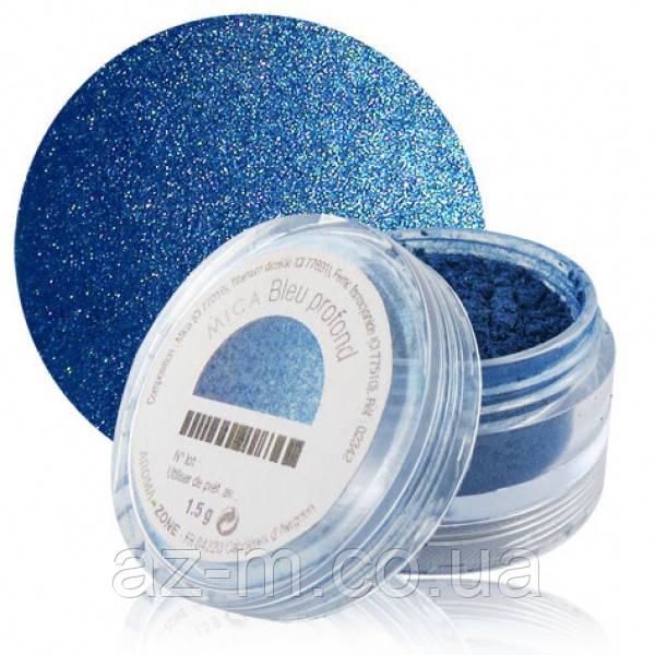 Слюда Темно-синяя (Deep blue mica), 1,5 г