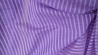 Льняная ткань в полоску для гардин и штор, фиолетового цвета (шир. 260 см)