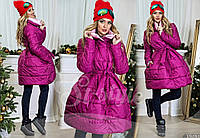 Женское пальто из плащевки на подкладке