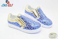 Детские слипоны оптом. Спортивная обувь для девочек от производителя Jong-Golf C502-17 (8пар 31-36)