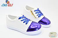 Детские слипоны оптом. Спортивная обувь для девочек от производителя Jong-Golf C503-1 (8пар 31-36)