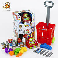"""Игровой набор """"Магазин"""" с кассовым аппаратом и тележкой детская касса супермаркет кассовый аппарат"""
