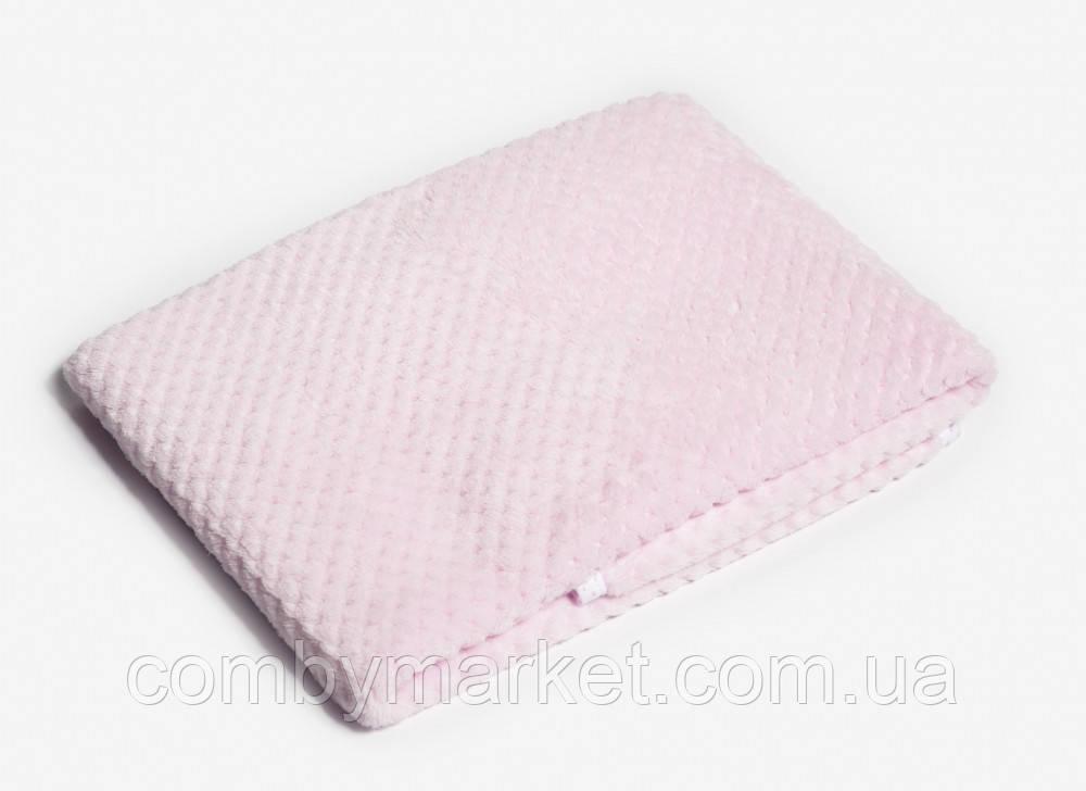 Плед детский Twins жаккард 80*104 розовый
