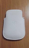 Кожаный чехол для Blackberry Q10. Белый