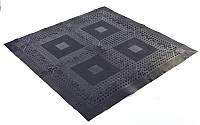 Коврик-пазл резиновый для спортивных залов набор 4шт+8шт+4шт 1,39м2 FI-5349 (р-р покрытия 118х118см)