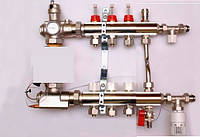 Колектор luxor для теплої підлоги без насоса на 3 виходи