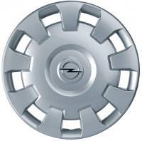 Колпак (крышка) R-15 серебряный стального колёсного диска (ИДЕНТ. JK) GM 6006035 9179662 OPEL, фото 1