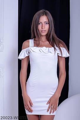Жіноче біле коротке плаття Sarra