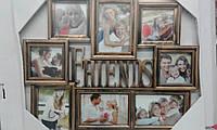 Фоторамка коллаж Friends/Друзья 8фото бел/бронз 31v2-ш