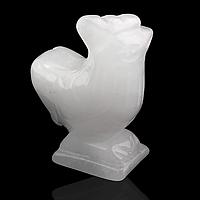 Кварц белый, статуэтка петух, 154ФГК