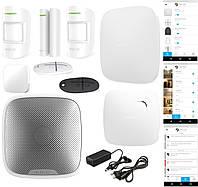 Комплект беспроводной Smart IP/GSM сигнализации Ajax JEWELLER All Inclusive White