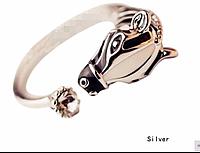 Новинка! Хит продаж! Модное женское кольцо Зебра, незамкнутое, регулируемое, цвет - серебро