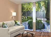 """ФотоШторы """"Водопад в тропиках"""" 2,5м*2,6м (2 полотна по 1,30м), тесьма"""