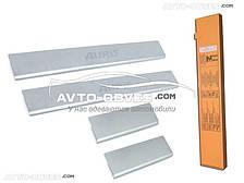 Накладки на внутренние пороги Toyota Auris II 5D 2012-…