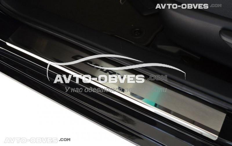 Накладки на внутренние пороги Тойота Камри V50