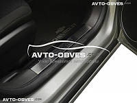 Накладки на внутренние пороги Chevrolet Cruze 4D, 5D на пластик, передние 2 шт