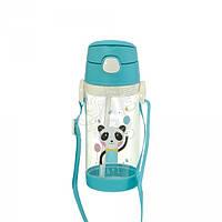 Детская бутылочка 25.4 панда пластиковая голубого цвета