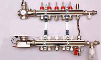 Колектор luxor для теплої підлоги без насоса на 5 виходів