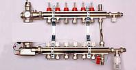 Колектор luxor для теплої підлоги без насоса на 6 виходів