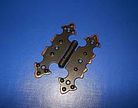 Петля мебельная «Бабочка» черная+медь, фото 1