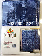 Шторка для ванной MIRANDA джинс, фото 1