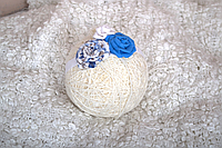 Повязка «Розы» синяя