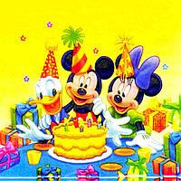 """Салфетки бумажные """"Mickey Mouse & Donald"""". В упак: 20 шт., фото 1"""