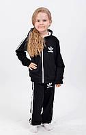 Стильный детский спортивный костюм черного цвета