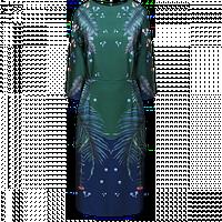 Платье Faberlic с рукавом 3/4 для женщины, цвет  сине-зеленый р. 48